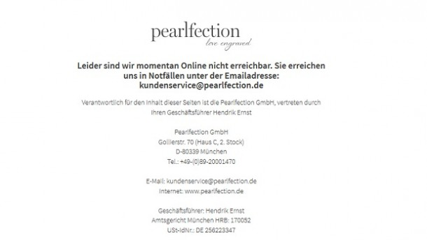Schmuckshop Pearlfection ist insolvent