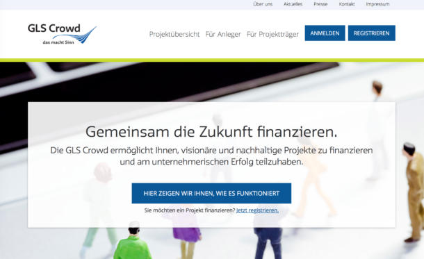 Crowdinvesting: GLS Bank und Crowd-Desk starten eigene Plattform